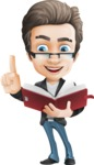 Vector Business Man Cartoon Character Design - Book2