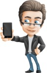 Vector Business Man Cartoon Character Design - iPhone