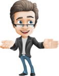 Vector Business Man Cartoon Character Design - Show2