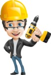 Vector Business Man Cartoon Character Design - Under Construction2