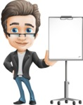 Vector Business Man Cartoon Character Design - Presentation3