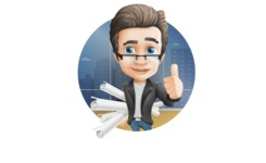 Vector Business Man Cartoon Character Design - Shape2