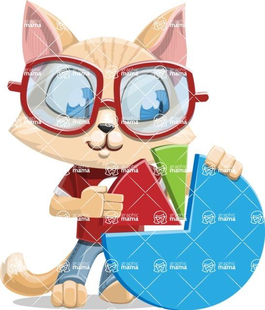Kitten Cartoon Vector Character AKA Mew Catsby - Chart