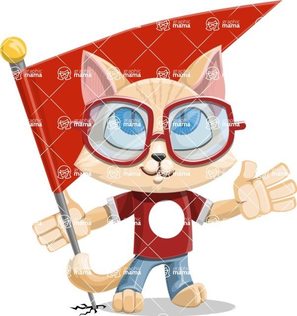 Kitten Cartoon Vector Character AKA Mew Catsby - Checkpoint
