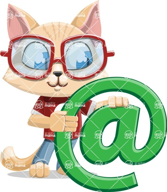 Kitten Cartoon Vector Character AKA Mew Catsby - Email