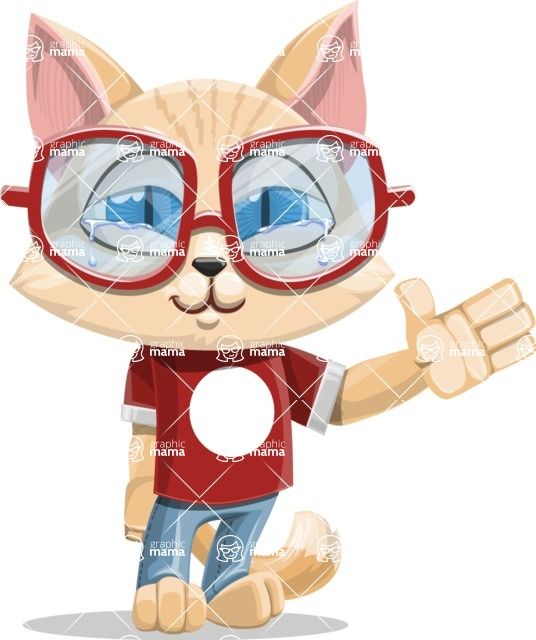 Kitten Cartoon Vector Character AKA Mew Catsby - GoodBye