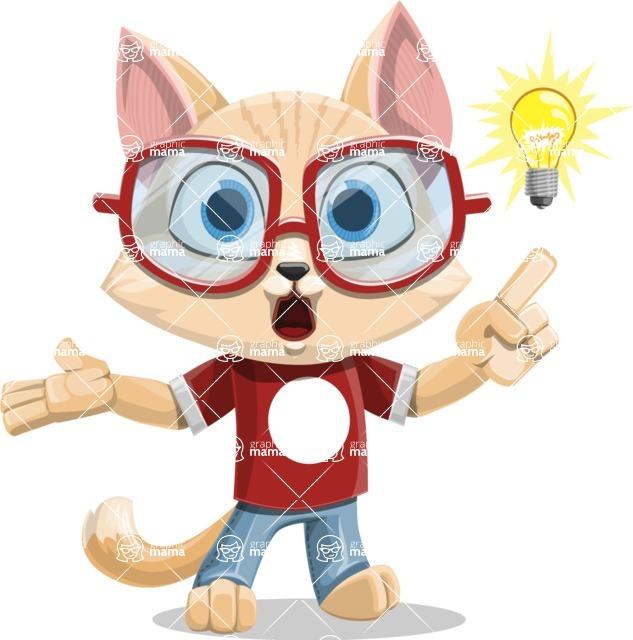 Kitten Cartoon Vector Character AKA Mew Catsby - Idea 2