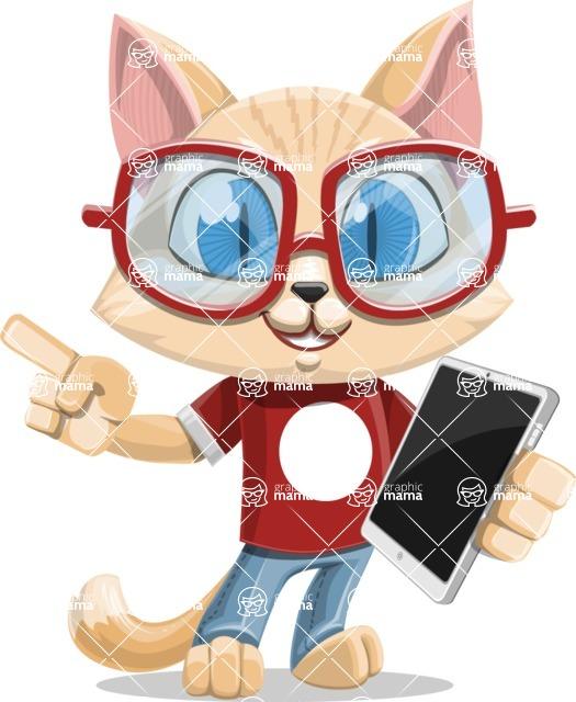 Kitten Cartoon Vector Character AKA Mew Catsby - iPad 3
