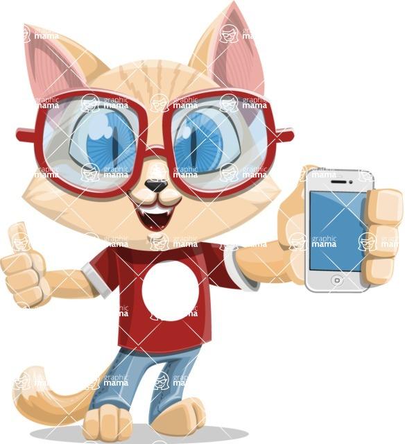 Kitten Cartoon Vector Character AKA Mew Catsby - iPhone