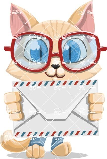 Kitten Cartoon Vector Character AKA Mew Catsby - Letter
