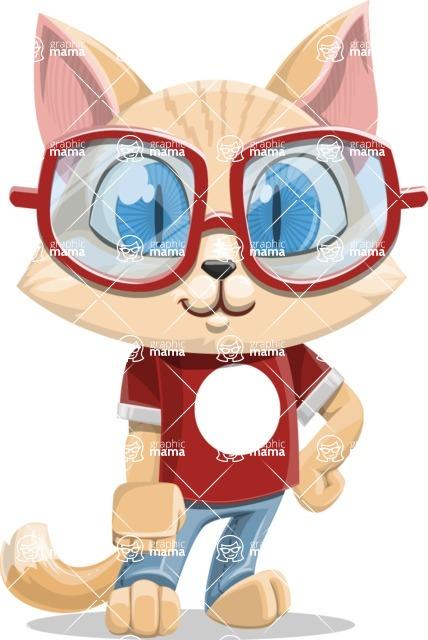 Kitten Cartoon Vector Character AKA Mew Catsby - Normal