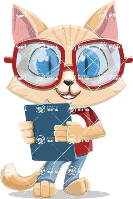 Kitten Cartoon Vector Character AKA Mew Catsby - Notepad 2