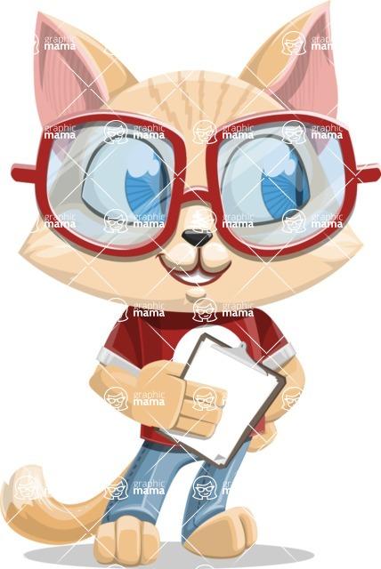 Kitten Cartoon Vector Character AKA Mew Catsby - Notepad 4