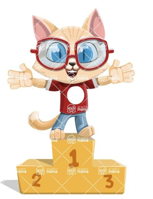 Kitten Cartoon Vector Character AKA Mew Catsby - On Top