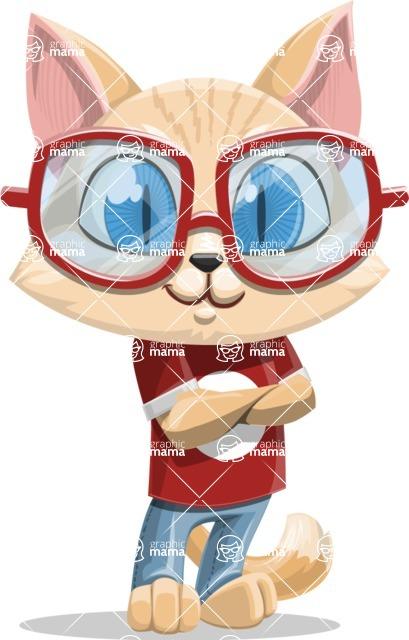 Kitten Cartoon Vector Character AKA Mew Catsby - Patient