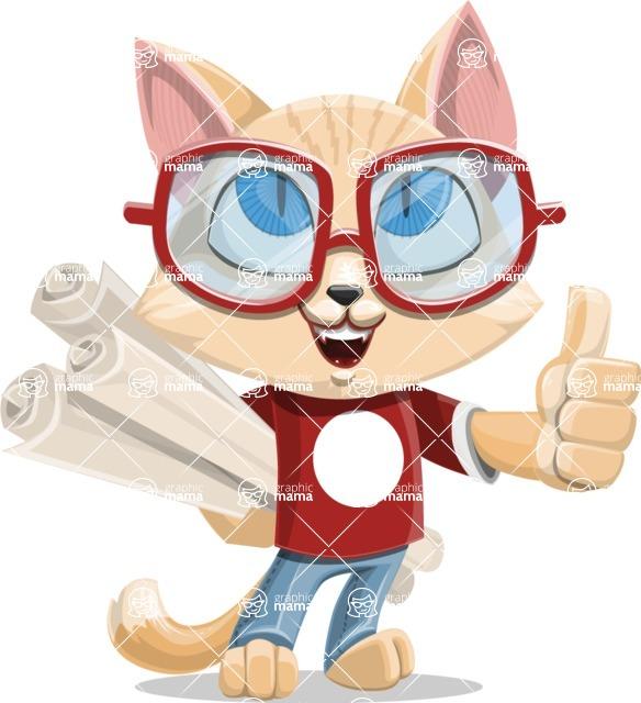 Kitten Cartoon Vector Character AKA Mew Catsby - Plans