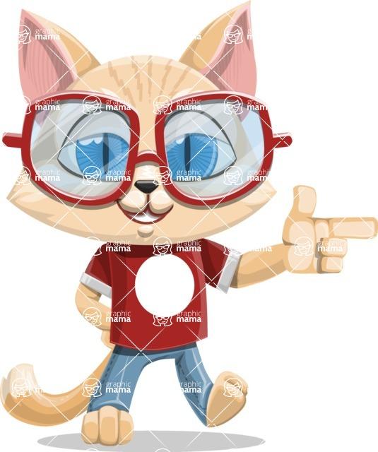 Kitten Cartoon Vector Character AKA Mew Catsby - Point