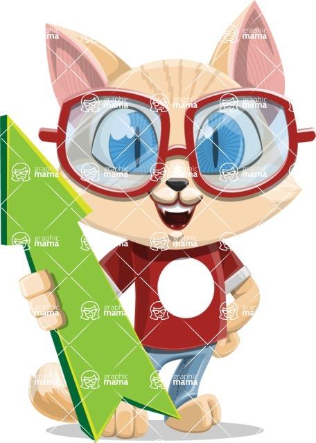 Kitten Cartoon Vector Character AKA Mew Catsby - Pointer 1