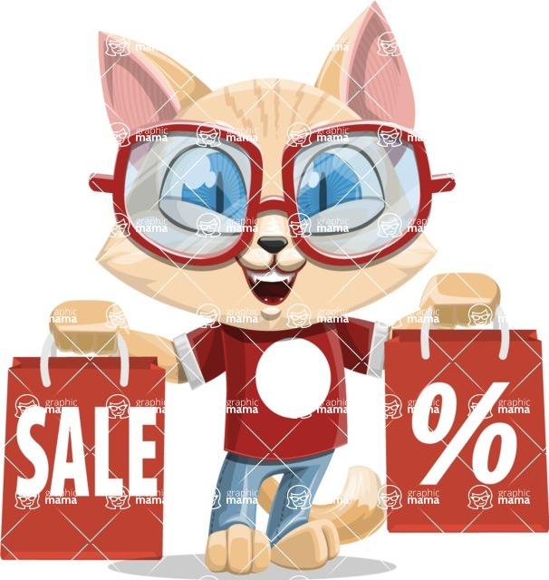 Kitten Cartoon Vector Character AKA Mew Catsby - Sale 2