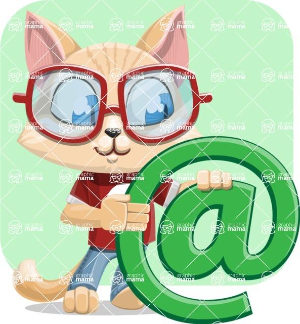 Kitten Cartoon Vector Character AKA Mew Catsby - Shape 10