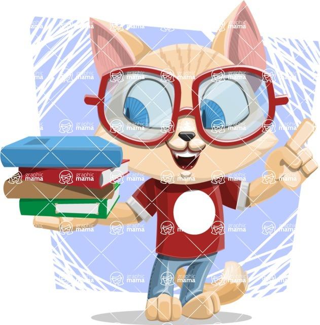 Kitten Cartoon Vector Character AKA Mew Catsby - Shape 5