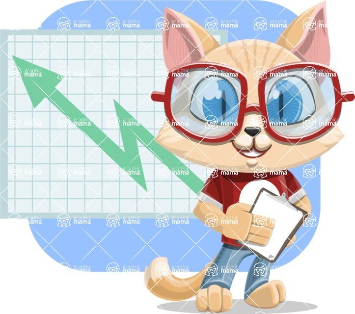 Kitten Cartoon Vector Character AKA Mew Catsby - Shape 6