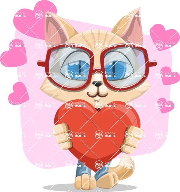 Kitten Cartoon Vector Character AKA Mew Catsby - Shape 7