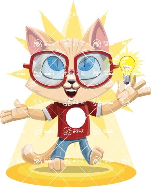 Kitten Cartoon Vector Character AKA Mew Catsby - Shape 8