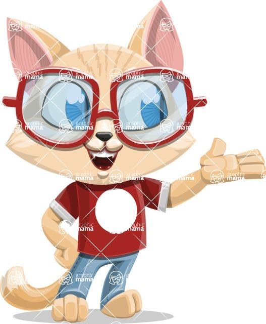 Kitten Cartoon Vector Character AKA Mew Catsby - Showcase 2