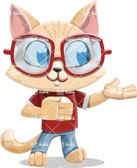 Kitten Cartoon Vector Character AKA Mew Catsby - Showcase
