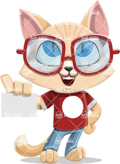 Kitten Cartoon Vector Character AKA Mew Catsby - Sign 1