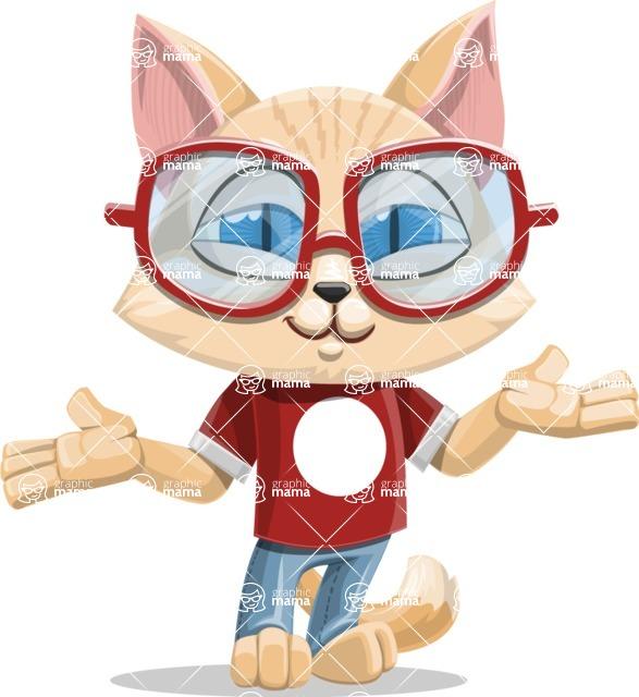 Kitten Cartoon Vector Character AKA Mew Catsby - Sorry
