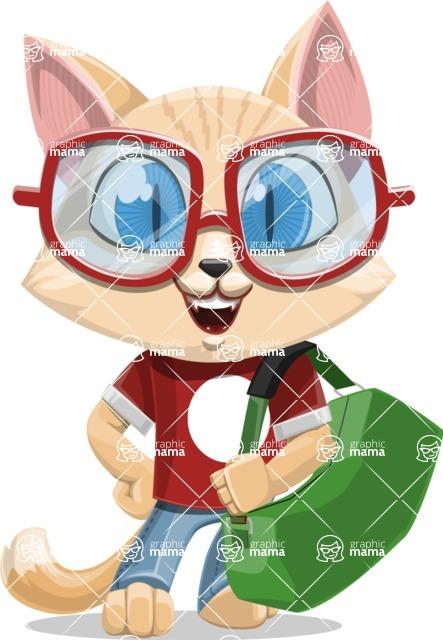 Kitten Cartoon Vector Character AKA Mew Catsby - Travel 2