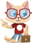Kitten Cartoon Vector Character AKA Mew Catsby - Briefcase 2