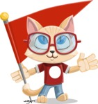 Kitten Cartoon Vector Character AKA Mew Catsby - Checkpoint