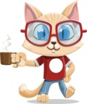 Kitten Cartoon Vector Character AKA Mew Catsby - Coffee