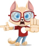 Kitten Cartoon Vector Character AKA Mew Catsby - Direct Attention