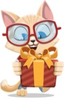 Kitten Cartoon Vector Character AKA Mew Catsby - Gift
