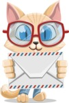 Kitten Cartoon Vector Character AKA Mew Catsby - Letter