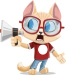 Kitten Cartoon Vector Character AKA Mew Catsby - Loudspeaker