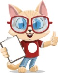 Kitten Cartoon Vector Character AKA Mew Catsby - Notepad 1