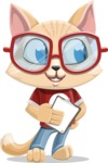 Kitten Cartoon Vector Character AKA Mew Catsby - Notepad 4