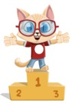Kitten Cartoon Vector Character AKA Mew Catsby - On Top