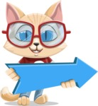 Kitten Cartoon Vector Character AKA Mew Catsby - Pointer 2