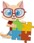 Kitten Cartoon Vector Character AKA Mew Catsby - Puzzle