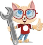 Kitten Cartoon Vector Character AKA Mew Catsby - Repair