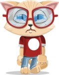 Kitten Cartoon Vector Character AKA Mew Catsby - Sad