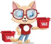 Kitten Cartoon Vector Character AKA Mew Catsby - Sale