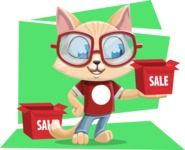 Kitten Cartoon Vector Character AKA Mew Catsby - Shape 12
