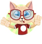 Kitten Cartoon Vector Character AKA Mew Catsby - Shape 2